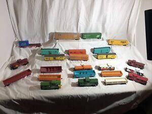 Lot of 24 HO Scale Freight Cars -AHM,Bachmann, Life-Like,Mantua,Tyco,Varney