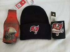 Tampa Bay Buccaneers Black Knit Hat And Two Koolie Cups