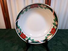 Beautiful Tienshan Deck The Halls Fine China Floral Designed Round Serving Bowl