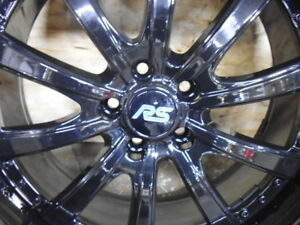 "FORD ST FOCUS MK2 RS 20"" BLACK ALLOY WHEEL SET INC 245/30 ZR20 TYRES 2005 - 2011"