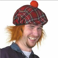 See You Jimmy Scottish Red Tartan Tam O Shanter Hat & Ginger Hair Burns Night