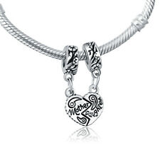 Fine Mother Daughter Dangle Pendent Charm Bead For 925 Silver European Bracelet