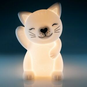 ❤️CAT Waving KITTEN UNICORN BUNNY DINOSAUR Night Light USB LED Rechargeable❤️
