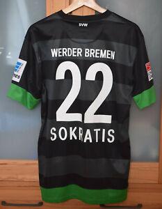 Werder Trikot 2012/13 ohne Sponsor #22 SOKRATIS Gr. M Dortmund