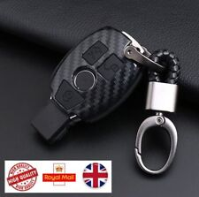 For Mercedes Benz Car Key Fob Remote Case BLACK CARBON A B C CLA CLS E GL S SL