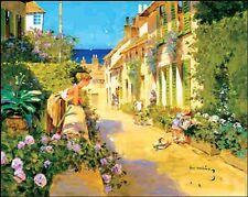 John Haskins: Mediterranean Town I Fertig Bild 24x30 Wandbild Mediterran
