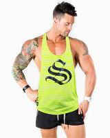 Strong Liftwear Aesthetic T Back Mens Singlet Bodybuilding Stringer Tank Vest