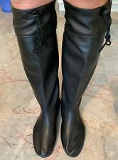 Rare Japanese Extra Tall Black Rubber Farm Boots US12 UK11 EU45 Gummistiefel