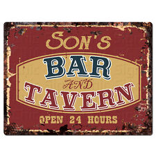 PPBT0608 SON'S BAR and TAVERN Rustic Tin Chic Sign Home Store Decor Gift