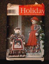 "Simplicity Pattern 7882 Holiday 55"" Snowlady & 40"" Polar Bear w/clothes - New"