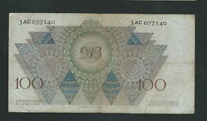NETHERLANDS  RARE 100 GULDEN   1947   F+++/ VF