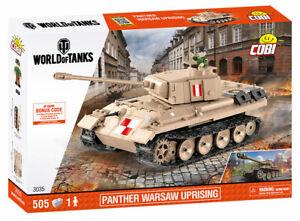 PZKPFW V Panther W ('World of Tanks') - COBI 3035 - 505 brick medium tank
