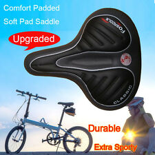 Bum Shape Bike Bicycle Saddle Seat Cruiser Extra Comfort Sport Soft Pad Black
