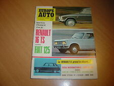 Europe Auto N° 17 NSU Ro 80.Fiat 125 / Renault 16 TS.Ford 20 M RS.Audi 60