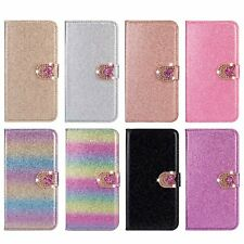Bling Glitter Leather Flip Wallet Phone Case Cover for Samsung S20 A21S S10 A51