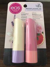 eos Flavor Lab Lavender Latte & Sweet Grapefruit Super Soft Shea Lip Balm 2 Pack