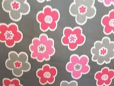"PREMIER PRINTS IKAT PETALS FLAMINGO PINK FLORAL JUVENILE FABRIC BY THE YARD 54""W"