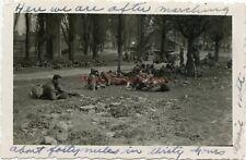 *WWII photo- 80th ID- US GIs rest near JENA Germany before AMBUSH -WAR STORY*
