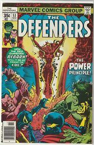 Defenders (1972) #53 FN 1st App of Lunatik Marvel Comics