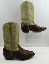 Ladies Durango Brown/ Beige Leather Western Boots Size: 9.5M