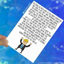 Trump Father's Day Card Funny Fathers Day Dad Gift Banter Adult Humour Fun PC411
