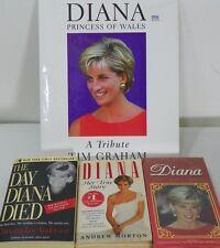 Princess Diana Books Lot VHS People Princess True Store Paper Back Wales