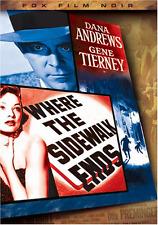 Where the Sidewalk Ends (Fox Film Noir) Robert Ryan,Dana Andrews, Gene Tierney