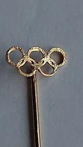 Old Oympic PIN GOLD METAL RINGS