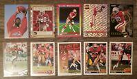 Jerry Rice 1992 Upper Deck/1991 Score Rocket Man San Fran 49ers HOF Lot (10)