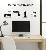 Vinyl Wall Decal Gamer Weapon Quote Video Games Controllers Gaming Art (ig5130)