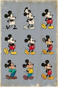 """Mickey Mouse - Disney Poster / Print (The Evolution Of Mickey Mouse) (24"""" X 36"""")"""