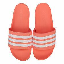 Женские Adidas Adilette, комфорт лакированные сандалии в мелом коралл