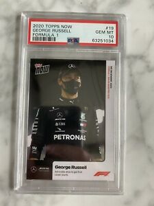 GEORGE RUSSELL 2020 TOPPS NOW FORMULA 1 F1 19 PSA 10 ROOKIE CARD RC