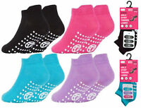 3 Pairs Girls Socks Kids Gripper Trainer Socks Sports Liners Trampoline Non Slip