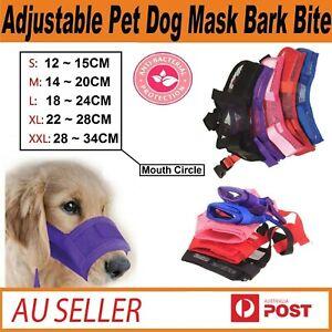 Nylon Adjustable Pet Dog Bark Bite Soft Mouth Muzzle Grooming Anti-Chewing