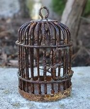 Rusted Vintage Styled Bird Cage Miniature 1/24 Scale G Scale Diorama Accessory