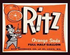 RITZ ORANGE SODA - Vintage Ad Flexible Fridge Magnet