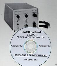 HP 8402A Power Meter Calibrator Operating & Service manual