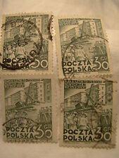 Poland Stamp 1951 Scott 528 A193  Six Year Plan 30 Gr Set of 4