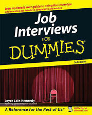 Job Interviews For Dummies by Joyce Lain Kennedy (Paperback, 2008)