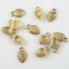 120pcs dark gold beetle's shell findings h2003