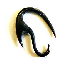 BOUCLE D'OREILLE PIERCING ECARTEUR ETHNIQUE CORNE OS EAR GAUGE HORN NOIR BLACK
