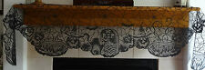 "Heritage Lace Fabric ""Black"" RIP,Witches, Brew Pots Mantel Scarf 19 x 90 (309)"