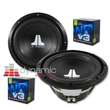 "2 JL AUDIO 10W0v3 Car Subwoofers 10"" SVC 4-Ohm 600 Watts Subs 10W0v3-4 New"