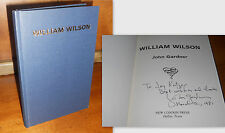 SIGNED/DATED+ William Wilson by John Gardner 1st/1st Edition 1979 Grendel Author