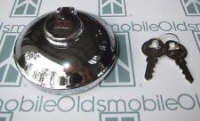 1934-1958 Oldsmobile Accessory GM Locking Gas Cap w/ 2 Keys. Chrome