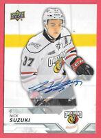2018-19 Nick Suzuki Upper Deck CHL Rookie Auto - Montreal Canadiens