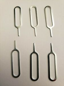 6  Sim Card Tray Remover Eject Tool Pin Key iPhone, Samsung - Univeral