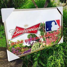 "Budweiser  MLB Major League Baseball  Beer Bar Mirror ""New"" Man Cave Pub"