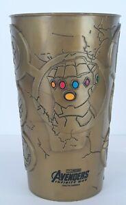 Cinemark Marvel Avengers Infinity War Gauntlet Plastic Gold Collectors Promo Cup